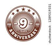 9 years anniversary.... | Shutterstock .eps vector #1289319331