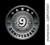 9 years anniversary.... | Shutterstock .eps vector #1289319337