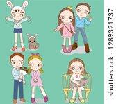 teen  vector  character  design ...   Shutterstock .eps vector #1289321737