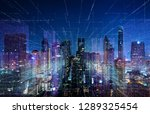 smart cityscape with wireless... | Shutterstock . vector #1289325454