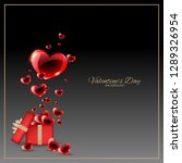 valentine's day background with ... | Shutterstock .eps vector #1289326954