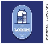 badge sticker design with milk...   Shutterstock .eps vector #1289327341
