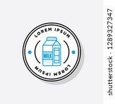 badge sticker design with milk...   Shutterstock .eps vector #1289327347