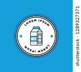 badge sticker design with milk...   Shutterstock .eps vector #1289327371
