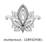 kalamkari artistic hand drawn... | Shutterstock . vector #1289329381