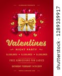 valentines day party flyer or... | Shutterstock .eps vector #1289339917