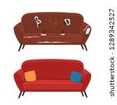 old and new sofa vector... | Shutterstock .eps vector #1289342527