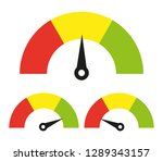 speedometer icon or sign with... | Shutterstock .eps vector #1289343157