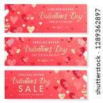 valentines day special offer... | Shutterstock .eps vector #1289362897