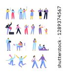 vector people set isolated on... | Shutterstock .eps vector #1289374567