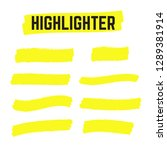 yellow highlighter marker... | Shutterstock .eps vector #1289381914