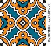 oriental traditional ornament ... | Shutterstock .eps vector #1289384704