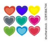 colorful heart shaped...   Shutterstock .eps vector #1289386744