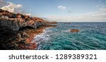 coast of lanzarote canary... | Shutterstock . vector #1289389321