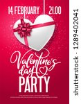 valentine's day party. holiday... | Shutterstock .eps vector #1289402041