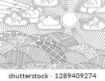 landscape of geometric elements ... | Shutterstock .eps vector #1289409274