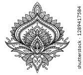 filigree lotus flower  black...   Shutterstock .eps vector #1289417584