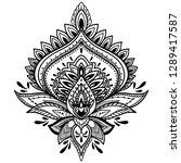 filigree lotus flower  black... | Shutterstock .eps vector #1289417587