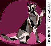seamless koshika pattern  cats... | Shutterstock .eps vector #1289418724