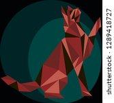 seamless koshika pattern  cats... | Shutterstock .eps vector #1289418727