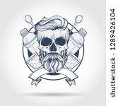 sketch  barman skull | Shutterstock .eps vector #1289426104