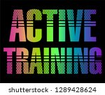 no train no gain graphic print... | Shutterstock .eps vector #1289428624