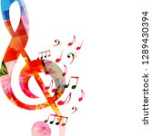 music background with colorful... | Shutterstock .eps vector #1289430394