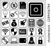 set of 22 business related... | Shutterstock .eps vector #1289436784
