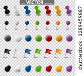 collection of different pin... | Shutterstock .eps vector #1289459887