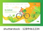 healthy lifestyle concept for... | Shutterstock .eps vector #1289461234
