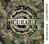 incurable camouflaged emblem | Shutterstock .eps vector #1289485954