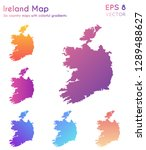 map of ireland with beautiful... | Shutterstock .eps vector #1289488627