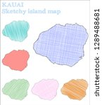 kauai sketchy island. tempting...   Shutterstock .eps vector #1289488681