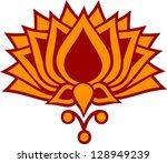 lotus flower   vector image  ... | Shutterstock .eps vector #128949239