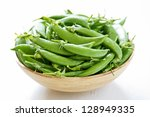 sugar snap pea   Shutterstock . vector #128949335