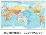 world map vintage color pacific ...   Shutterstock .eps vector #1289493784