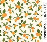 orange tangerine mandarin... | Shutterstock .eps vector #1289512141