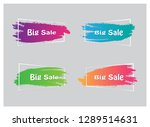 trendy banner flat design set... | Shutterstock .eps vector #1289514631