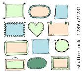 hand drawn set of simple frame... | Shutterstock .eps vector #1289521231