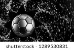 Black Silver Soccer Ball With...
