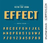 line font and alphabet vector ... | Shutterstock .eps vector #1289531224