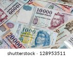 hungarian forint background... | Shutterstock . vector #128953511