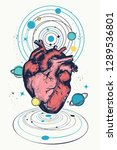 magic anatomical heart in space ... | Shutterstock .eps vector #1289536801