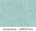 tropical floral pattern... | Shutterstock .eps vector #1289537161