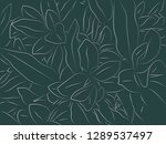 tropical floral pattern... | Shutterstock .eps vector #1289537497
