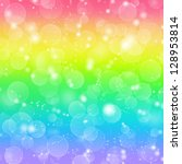 Rainbow Holiday Background With ...