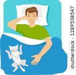 sleeping man. man sleeping in...   Shutterstock .eps vector #1289538547