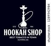 Hookah Label  Badge And Design...