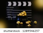 close up black clapperboard ... | Shutterstock . vector #1289546257