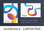abstract design brochure in... | Shutterstock .eps vector #1289547964